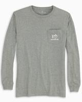 Heather Grey Stacked LS T