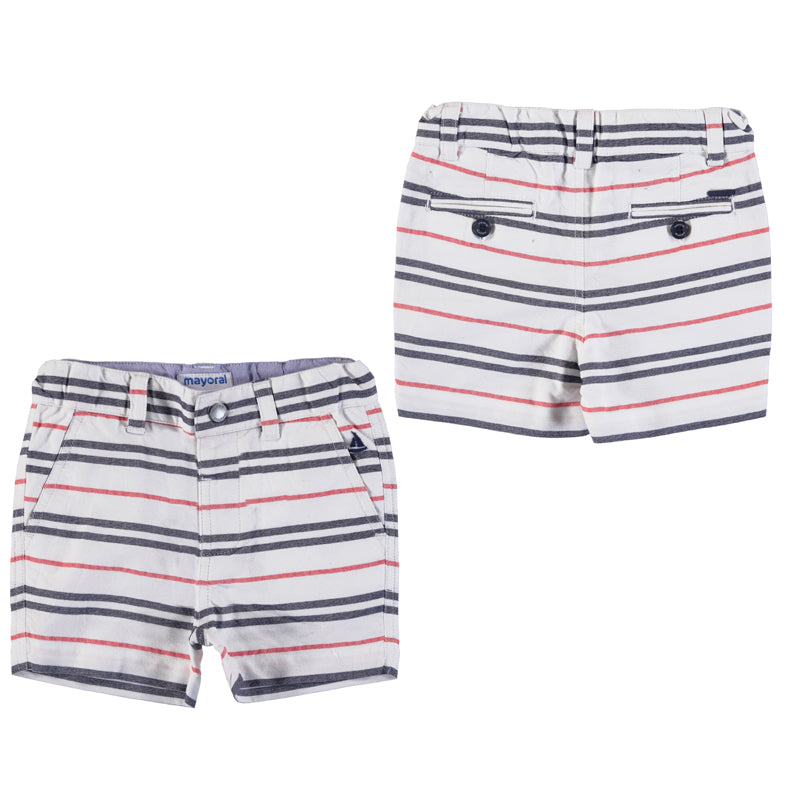 Hibiscus Striped Bermuda Short