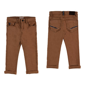 Brown Soft Slim Fit Pants