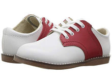 Load image into Gallery viewer, Apple Red & White Saddle Footmates Shoe