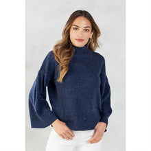 Load image into Gallery viewer, Navy Willa Turtleneck Sweater