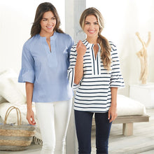 Load image into Gallery viewer, Shay Tunic Navy Stripe Mudpie