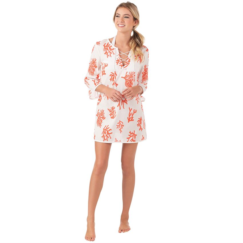 Easton Essential Tunic Coral