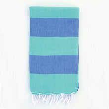 Load image into Gallery viewer, Green Blue Clothe Turkish Towel