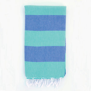 Green Blue Clothe Turkish Towel