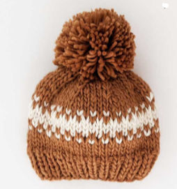 Rebel Pecan Stripe Knit Hat