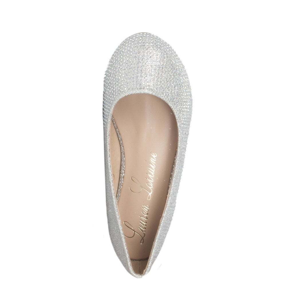Betty Silver Ballerina Flat