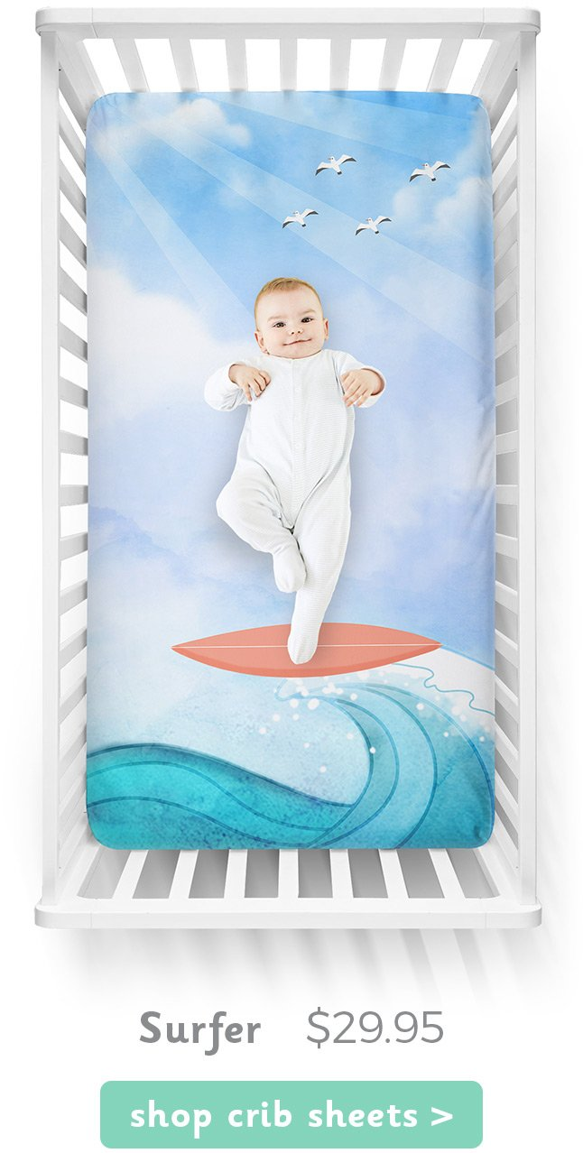 Surfer Luvsy Crib Sheet