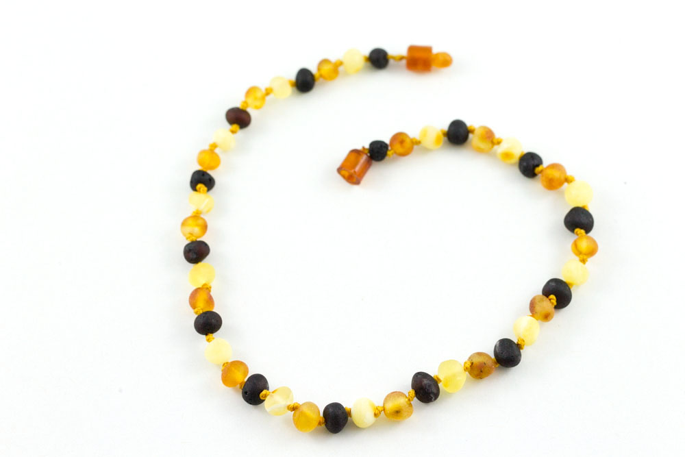 Balticamber Multi Raw Chidren's Necklace 12-13""