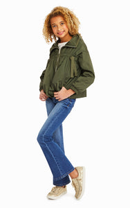 Rayne Dark Green Lightweight Nylon Jacket
