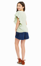 Load image into Gallery viewer, Navy Brenda Paperbag Cuffed Short