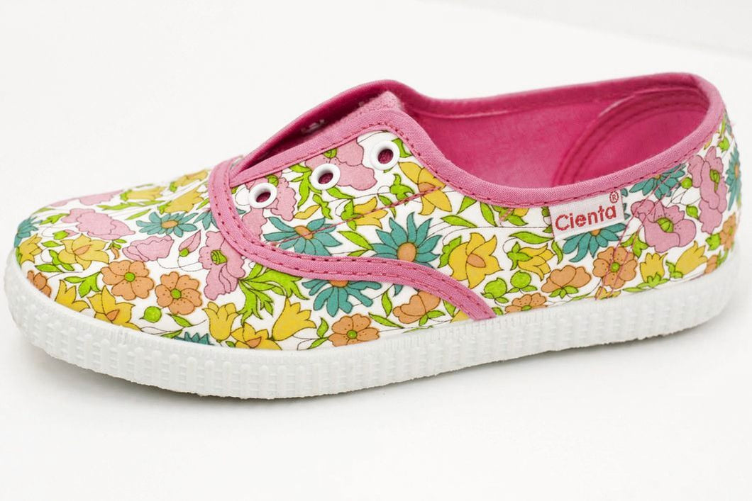 Fuchsia Floral Slip on Shoe