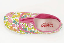 Load image into Gallery viewer, Fuchsia Floral Slip on Shoe