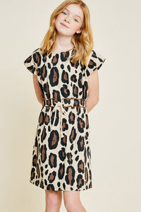 Leopard Mini French Terry Dress