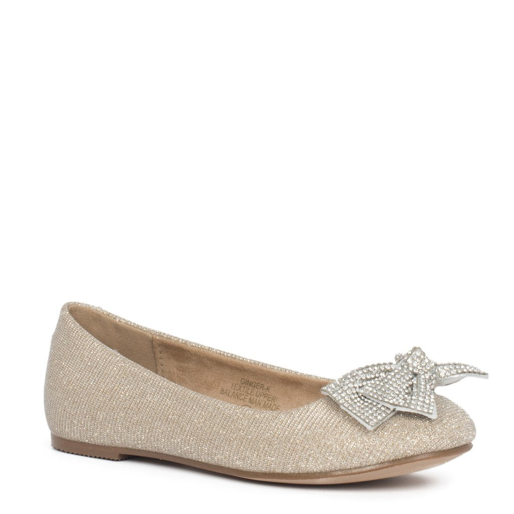 Ginger Bow Flat Shoe