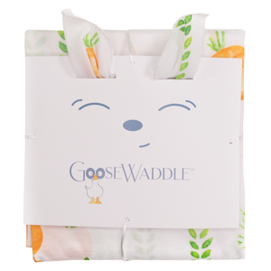Parsnip Bunny & Carrots GooseWaddle 2PK Blankets