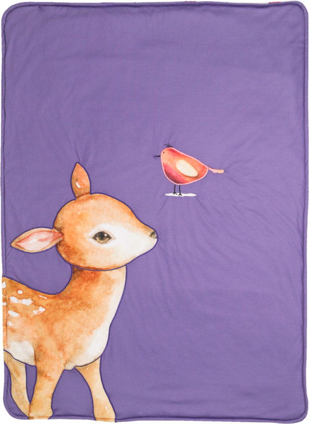 Ginger Deer Applique GooseWaddle Blanket