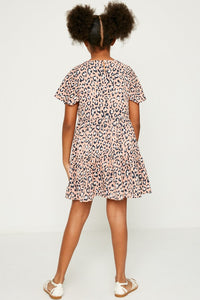 Leopard Button Down Swing Dress