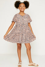 Load image into Gallery viewer, Leopard Button Down Swing Dress