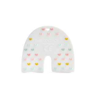 Pastel Rainbow Silicone Single Teether