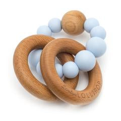 Baby Blue Trinity Wood & Silicone Teether