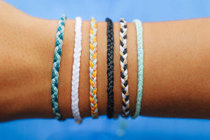 Multi Mini Braided Solid Bracelet