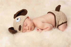 Puppy Hat & Bloomer Set
