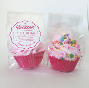 Pink Bliss Mini Cupcake Bath Bomb
