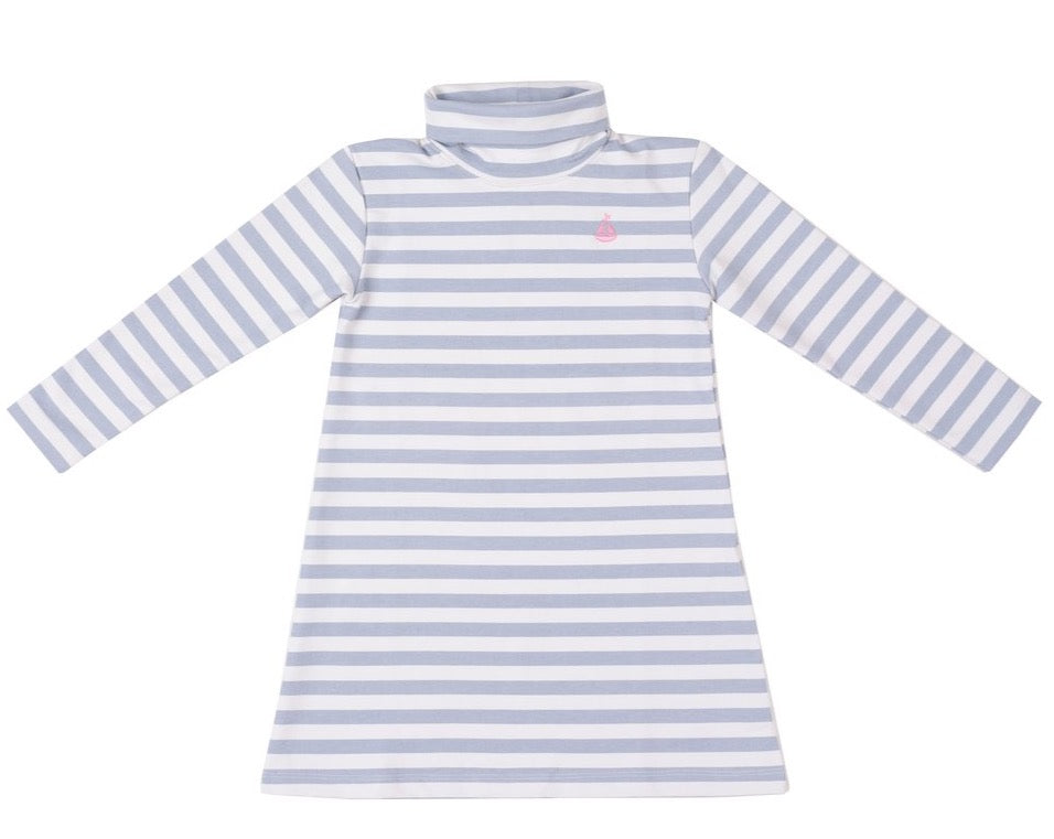 Cornflower Stripe Tisbury TNeck Dress