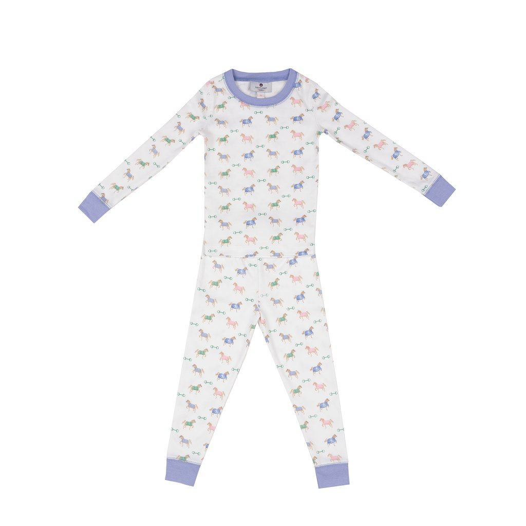 Nautical Equestrian Pima Jammies Set