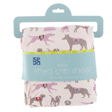 Macaroon Canine First Responders Fitted Crib Sheet