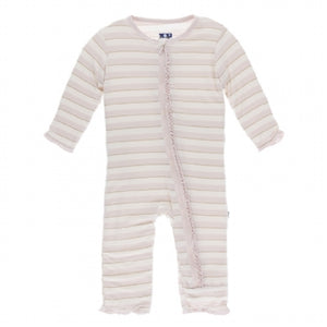 Everyday Heroes Sweet Stripe Ruffle Zip Coverall