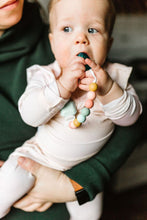 Load image into Gallery viewer, Pastel Rainbow Gem Paci Clip