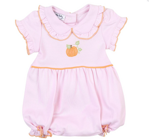 Vintage Pink Little Pumpkin Emb Collared Bubble