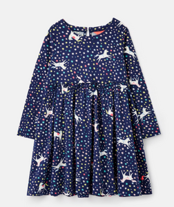 Navy Unicorn Hampton Paperbag Waist Dress