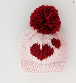 Double Red Sweetheart Pink Hat