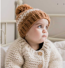 Load image into Gallery viewer, Rebel Pecan Stripe Knit Hat