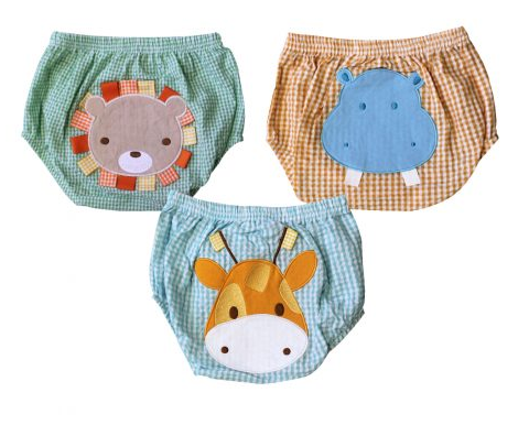 Animal Applique 3 pc Bloomer set
