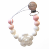 Baby Powder Lolli Flower Pacifier Clip