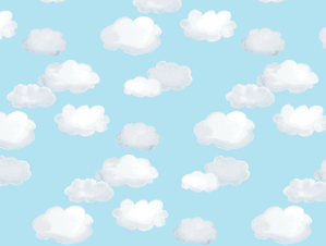 Clouds Cotton Muslin Swaddle