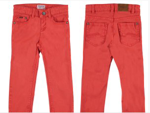 Apricot 5 Pockets Twill Trousers
