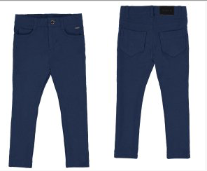 Dark Blue Fleece Basic Trousers