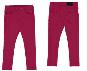 Raspberry Fleece Basic Trousers