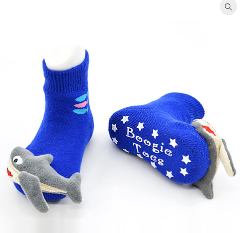Blue Sharky Sock