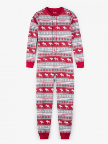 Fair Isle Moose Organic Cotton One Piece