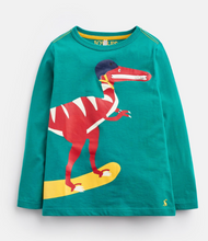 Load image into Gallery viewer, Zipadee Herb Green Dino Zip Mouth T-Shirt