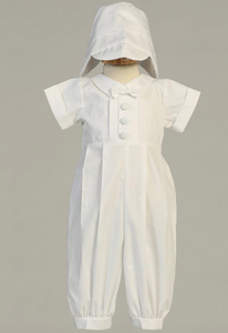 Garvin Cotton Long Romper With Hat