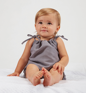 Gray Heirloom Smock Top & Bloomers