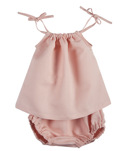 Pink Heirloom Smock Top & Bloomer Set
