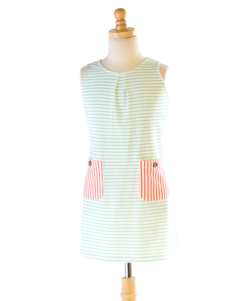 Edinburgh Brook Egret Stripe Dress